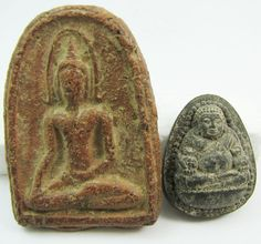 Currently at the #Catawiki auctions: Khun Khai and Phra Sangkatjay Buddhist amulets - Thailand - mid and 2nd half ...
