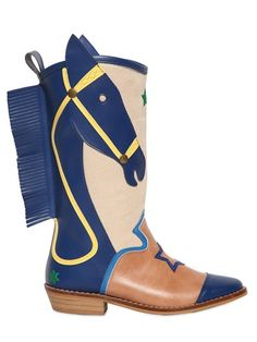 STELLA MCCARTNEY KIDS - FAUX LEATHER COWBOY BOOTS - LUISAVIAROMA - LUXURY SHOPPING WORLDWIDE SHIPPING - FLORENCE