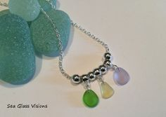 Sea Glass Jewelry Necklace Pastel Colors by SeaGlassVisions, $22.00