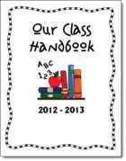 Class Handbook Cover that you can customize by typing onto the PDF forms version before printing