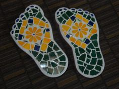 Mosaic Stepping Stones for the