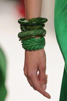 Bakelite bangles in the same color scheme