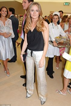 From student to stunner: Cressida has only recently graduated with her drama degree but looked every inch the stylish actress at the gala evening