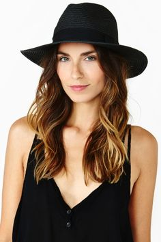 Roma Panama Hat in Black