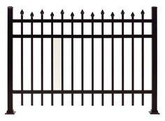"Gilpin Inc. Elite Grade Windsor 36"" x 72"" Heavy-Duty Aluminum Fence Panel at Menards®"