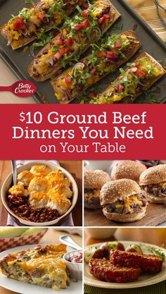 recipes with ground beef betty crocker. easy and delicious recipe, ready in 30 minutes! Beef Recipes For Dinner, Ground Beef Recipes, Cooking Recipes, Cooking Food, Hamburger Recipes, Barbecue Recipes, Cheap Meals, Easy Meals, Dinner With Ground Beef