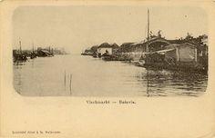 De Vischmarkt (Pasar Ikan) te Batavia 1890-1910.