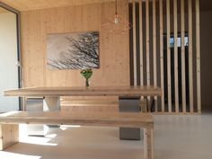 Dining table from clt panels