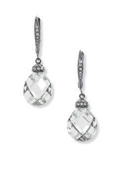 Nadri Faceted Crystal Drop Earrings.  I wear these constantly!  If you like sparkle, you'll love Nadri.