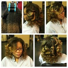 Natural hair roller wrap
