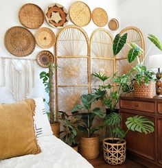 Of The Most Neglected Answers For Boho Bedroom Decor Hippie Bohemian Style Inspiration 106 - - Home Bedroom, Bedroom Decor, Wall Decor, Bedroom Ideas, Wicker Bedroom, Bedroom Furniture, Bedrooms, Bedroom Inspiration, Dream Bedroom