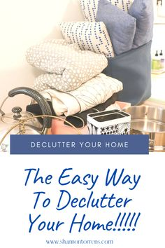 Declutter your home the easy way.  See the before and after photo of what changed for us!!!