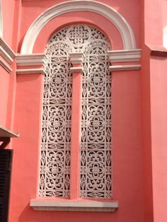 Church nha tho tan dinh Vietnam lovely windows