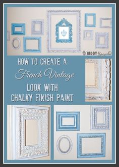 How To Create a French Vintage Look With Americana Chalky Finish Paint - by GiddyUpcycled.com  #chalkyfinish #decoartprojects @decoart @michaelsstores @homedepot @hobbylobby