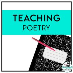 Poetry lessons, poetry activities, and tips for teaching poetry in the middle school and high school English language arts classroom. Teaching Poetry, Teaching Writing, Teaching Resources, Writing Lessons, Teaching Ideas, Teaching Materials, Math Lessons, Poetry Lessons, Teaching Literature