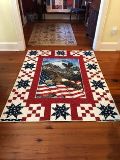 Star Quilt Blocks, Quilt Block Patterns, Pattern Blocks, Quilting Tips, Quilting Designs, Quilting Tutorials, Patriotic Quilts, Patriotic Crafts, Quilt Border