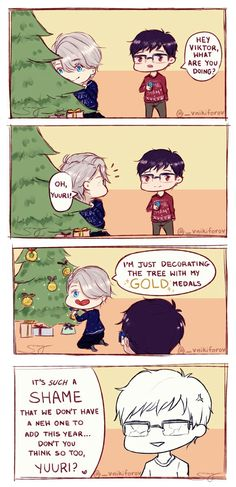 Victor/Viktor Nikiforov / Yuri/Yuuri Katsuki / Yuri on Ice / #yoi Victor is so mean .-.>>>ooooooOOOOHHHHHHHHHH! OH SNAP!