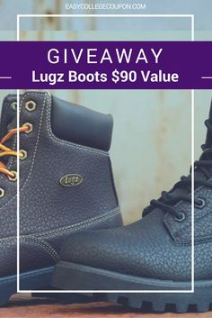 Need a new pair of boots? We are giving away (1) Pair of  Empire Lugz Boots! (Choice of Color!) This is a $90 + Value! Click through to enter for your chance to win.