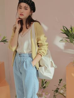 Young Fashion, Asian Fashion, Fashion Art, Stylenanda, Aesthetic Clothes, Casual Wear, Lace Trim, My Girl, Ready To Wear