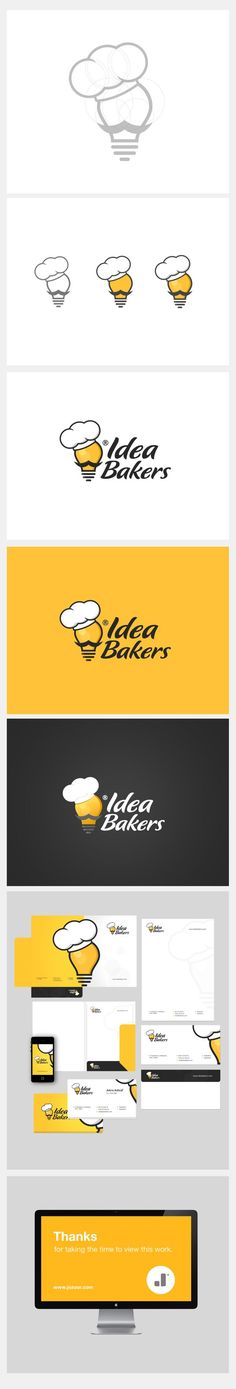 Identidade visual da Idea Bakers por Jozoor. Via Behance #design #branding