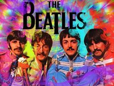 The Beatles in color.