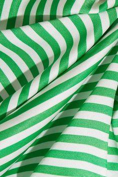 Etro - Wrap-effect Striped Ribbed Silk Top - Green Talitha Getty, Green Wrap, Bohemian Print, Ivory Silk, Ribbed Top, Green Stripes, Silk Top, Prints, Dots