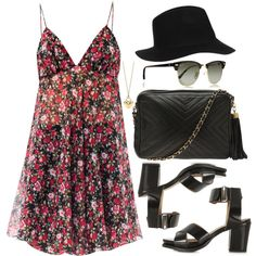 Style #2269 by vany-alvarado on Polyvore featuring moda, Yves Saint Laurent, Topshop, Chanel, Tiffany & Co. and Ray-Ban