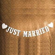 Just Married Wedding Banner Party Decoration Bunting Garland Western Handmade | eBay
