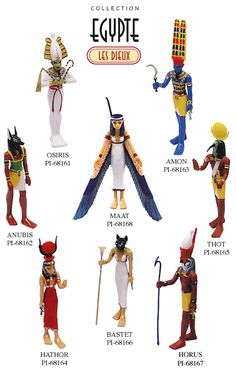 List of Egyptian Gods and Goddesses. Egyptian Pantheon and Egyptian mythology.