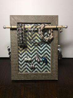 Jewelry Frame jewelry organizer earring holder by PicToFrame