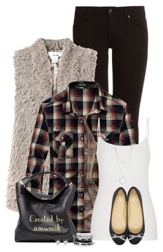 """""""Faux Fur"""" by amwmik ❤ liked on Polyvore featuring Genetic Denim, Sans Souci, maurices, Wallis, Burberry, GUESS and Botkier"""