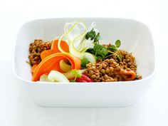 Lentil and Sun-dried Pesto Salad with Roasted Peppers