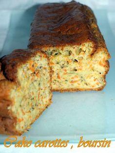 Cake à la carotte et boursin