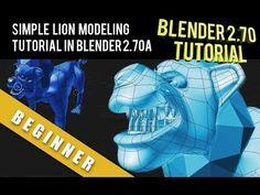 Simple Cartoon Lion Tutorial in Blender 2.70 a