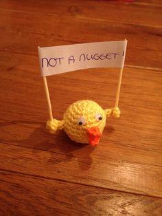 Not a nugget, craftisvism, craftivist, craftivist collective, vegetarien, vegan, animals, crochet, amigurumi