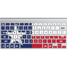 Hey, I found this really awesome Etsy listing at https://www.etsy.com/listing/184852327/mac-keyboard-stickers-texas-flag-decal