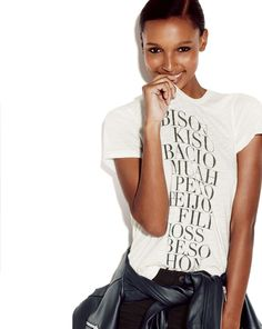 Black and white graphic tees and leather - love that layering combo. JCREW - Women's New Arrivals