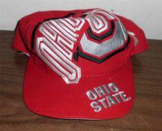 fac6892e69c Ohio State Buckeyes OSU Snap Back Big Logo Block Snapback Hat Vintage The  Game