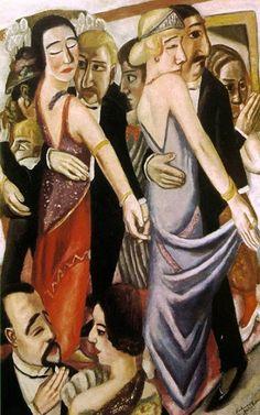 Max Beckman (German artist, 1884-1950) A Dance Bar in Baden Baden