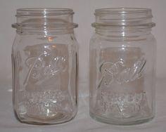 Ball Perfect Mason Jars Vintage Clear Glass 1923 - 33 & 1933 - 60 (Set of 2) #Ball