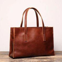Vintage Mens Womens Leather Large Brown Tote Handbag Shoulder Tote Purse Tote Bag For Men Tote Purse, Tote Handbags, Leather Handbags, Leather Totes, Tote Bags, Leather Bags, Cowhide Bag, Work Handbag, Messenger Bag Men