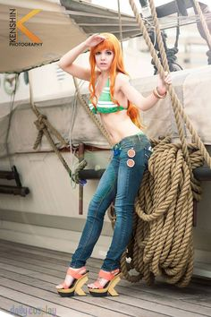 Nami (New World Version) from One Piece More at http://dailycosplay.com/2013/October/26b.html