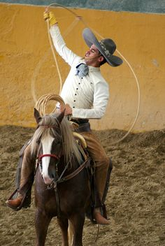 La Charreada:  (Mexican Rodeo).  Charreria is considered a national sport in Mexico.  It is very popular during national holidays and fairs.  Floritura o Floreo. MEXICO.   (by Pepe Antonio, via Flickr)