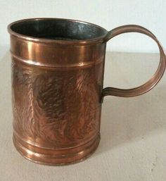 Vintage  Guernsey  Copper Crafts Hammered  Tankard   | eBay Copper Crafts, Guernsey, Hammered Copper, Brass Handles, Moscow Mule Mugs, French Vintage, Ebay