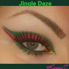 Jingle Daze!  Day 1 of The 25 Days of Christmas.  I used @Sleekmakeup Ultramattes Palette  @GlamourDollEyes Shadow in Dirty Mistress From the Deadly Hollywood Collection. @nyxcosmetics Gold Liquid Liner  @nyxcosmetics Lashes @urbandecaycosmetics Perversion Liner @glamourdolleyes Glitter in Not Too Cool @toofaced Glitter Glue @milanicosmetics Continuous Almond  @physiciansformula Eye Booster Liquid Liner   #GlamourDollEyes #GDE #GDEglitter  #Christmas #25daysofxmas #red #green #makeup…