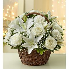 OFF - Buy reliable flowers online. Order Flower delivery to USA for your loved ones and surprise them on any special occasion. Basket Flower Arrangements, Beautiful Flower Arrangements, Table Flowers, Floral Arrangements, Beautiful Flowers, Rustic Flowers, White Flowers, White Roses, Casket Flowers