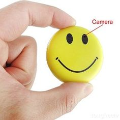 Toughsty™ 8GB Color Smile Face Badge Hidden Camera Realtime Mini SD Card DVR Camcorder