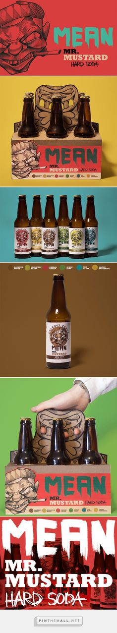 Mean Mr. Mustard Hard Soda (Student Project) - Packaging of the World - Creative Package Design Gallery - http://www.packagingoftheworld.com/2017/02/mean-mr-mustard-hard-soda-student.html