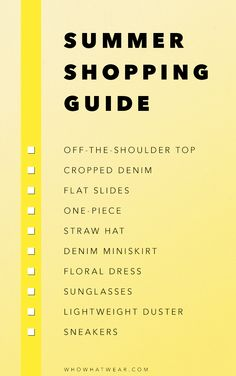 The ultimate summer shopping guide for the girl on a budget