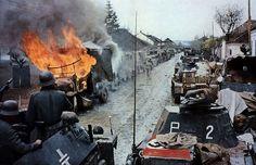 German column, Nis, Yugoslavia 1941